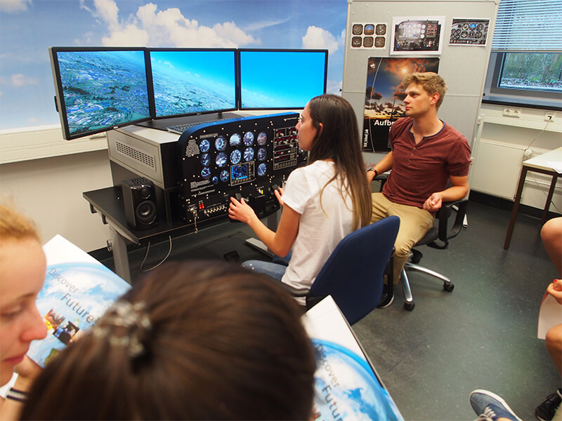 Girls taught STEM with simulator at Robotics Camp